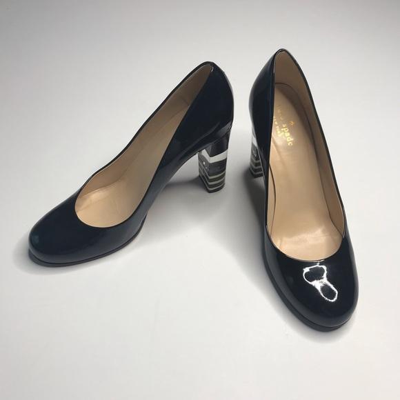 599d40e4607 Kate Spade Leslie Patent Leather Heel Lucite Strip